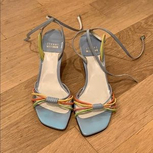 Stuart weitzman  multi color toe and heal sandal